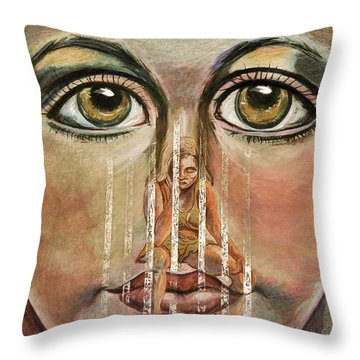 Teen Depression Throw Pillow