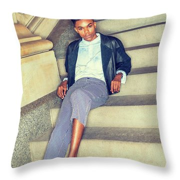 Throw Pillow featuring the photograph Teenage Casual Fashion 15042616 by Alexander Image