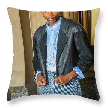 Throw Pillow featuring the photograph Teenage Casual Fashion 15042628 by Alexander Image