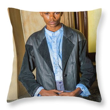 Throw Pillow featuring the photograph Teenage Casual Fashion 15042629 by Alexander Image