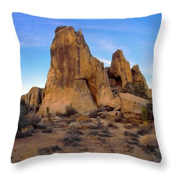 Teepee Rock Throw Pillow