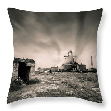 Teesside Steelworks 2 Throw Pillow