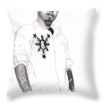 Teflon Don Throw Pillow by Pete Tapang