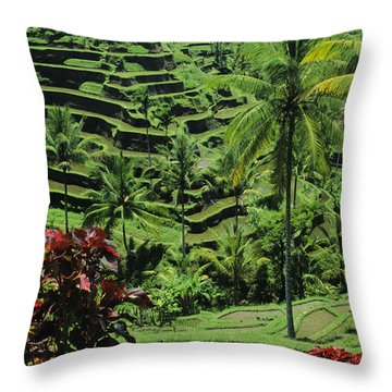 Tegalalang, Bali Throw Pillow by William Waterfall - Printscapes