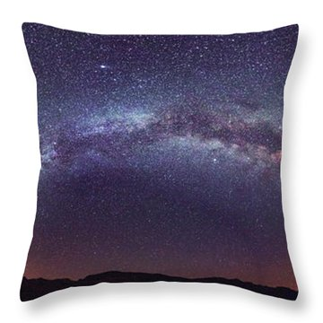 Throw Pillow featuring the photograph Teide Milky Way by James Billings