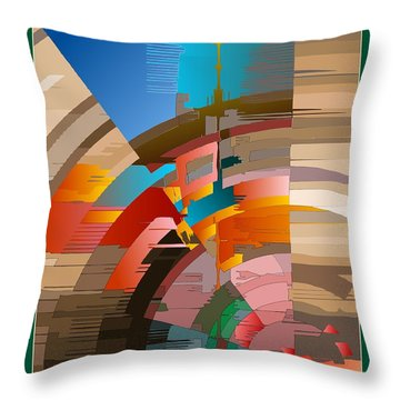 Telecast Throw Pillow by Leo Symon