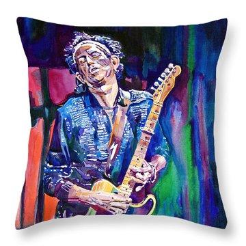 Telecaster- Keith Richards Throw Pillow