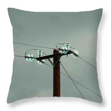 Telegraph Lines Throw Pillow