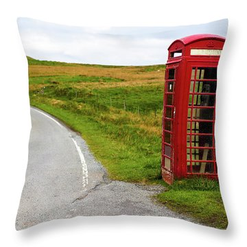 Throw Pillow featuring the photograph Telephone Booth On Isle Of Skye by Davorin Mance