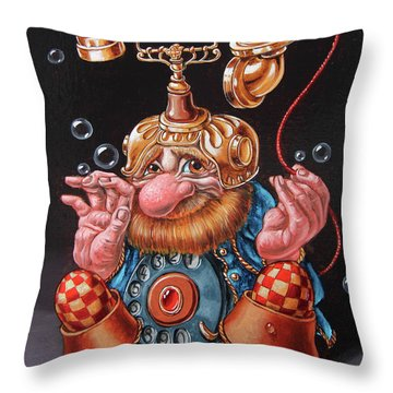Telephonic Throw Pillow