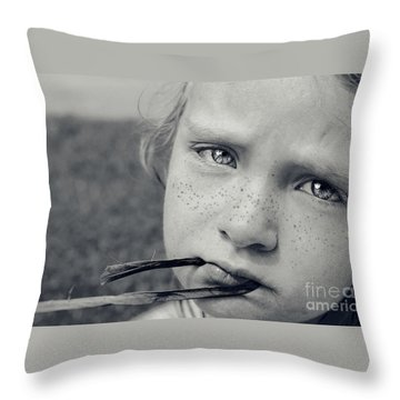 Tell Me What's Wrong Throw Pillow by Aimelle
