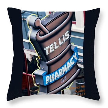 Tellis Pharmacy/ King Street Throw Pillow