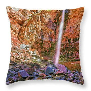 Telluride, Colorado's Cornet Falls - Colorful Colorado - Waterfall Throw Pillow by Jason Politte