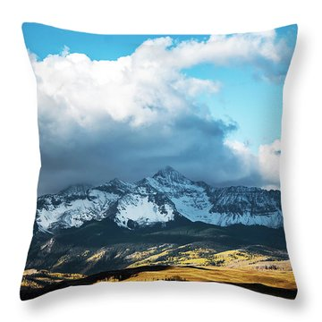Telluride Colorado In The Fall Throw Pillow