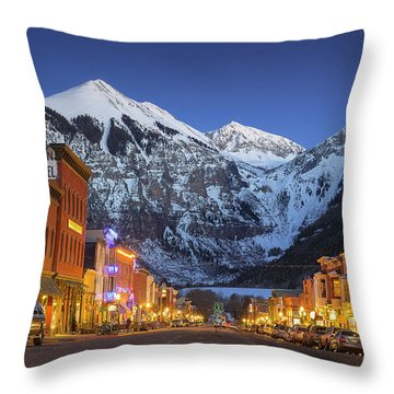 Telluride Main Street 3 Throw Pillow