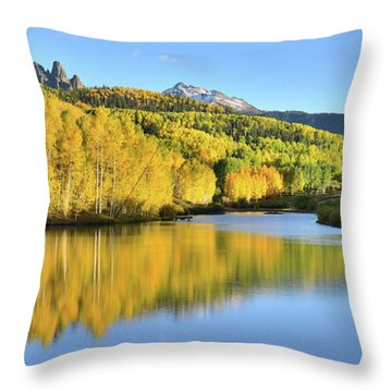 Throw Pillow featuring the photograph Telluride Mountain Lake by Ray Mathis