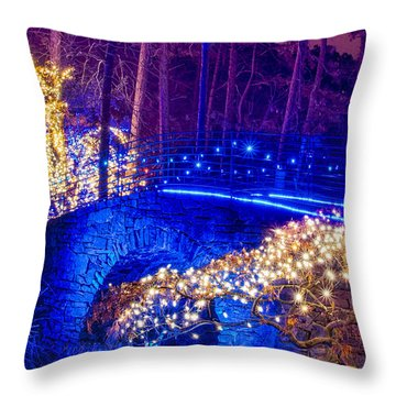Throw Pillow featuring the photograph Stone Bridge by Daniel George