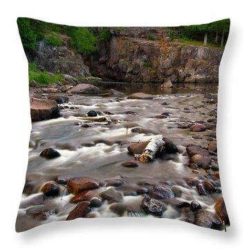Temperance River Throw Pillow by Steve Stuller