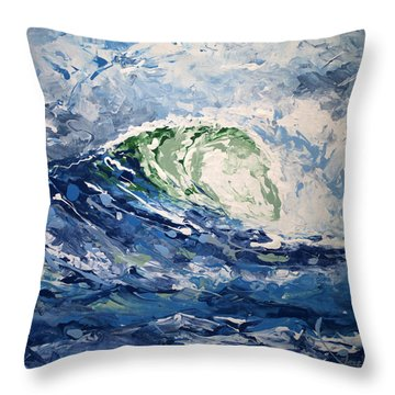Tempest Abstract Throw Pillow