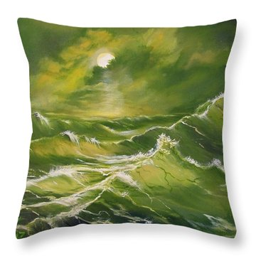 Throw Pillow featuring the painting Tempest  by Sharon Duguay
