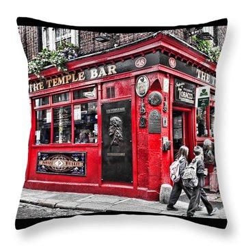Temple Bar Pub Throw Pillow