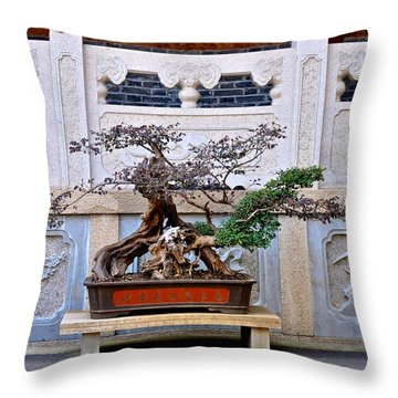 Temple Bonsai Throw Pillow