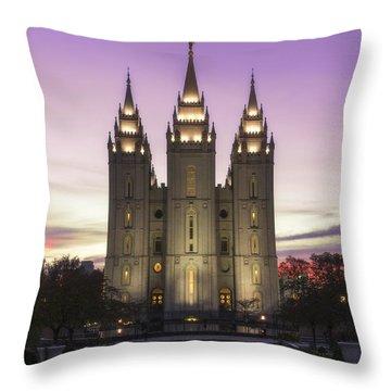 Temple Courtyard Throw Pillow
