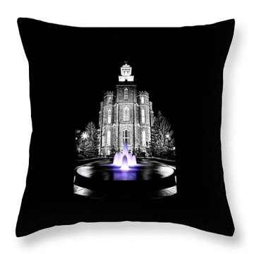 Temple Fountain  Throw Pillow