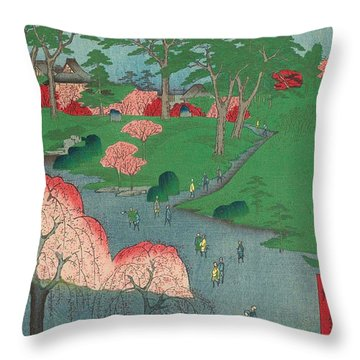 Temple Gardens, Nippori Throw Pillow