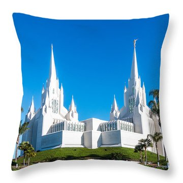 Throw Pillow featuring the photograph Temple Glow by Patti Deters