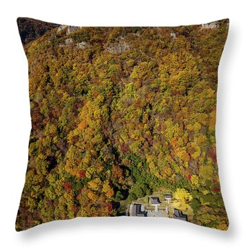 Temple In The Valley 2 Throw Pillow