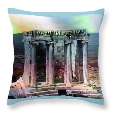 Throw Pillow featuring the photograph Temple Of Athena by Robert G Kernodle