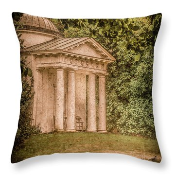 Kew Gardens, England - Temple Of Bellona Throw Pillow