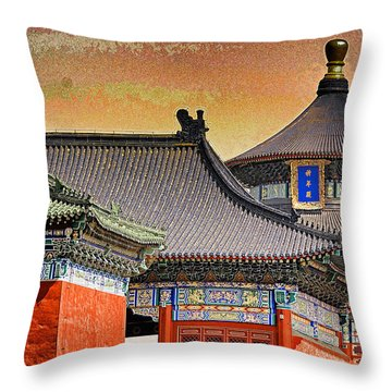 Temple Of Heaven Throw Pillow by Dennis Cox ChinaStock