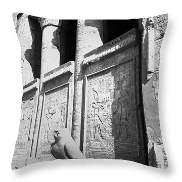 Throw Pillow featuring the photograph Temple Of Horus by Silvia Bruno