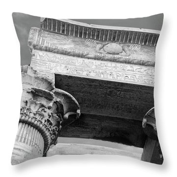 Throw Pillow featuring the  Temple Of Kom Ombo by Silvia Bruno