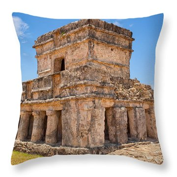 Temple Of The Frescos Throw Pillow by John M Bailey