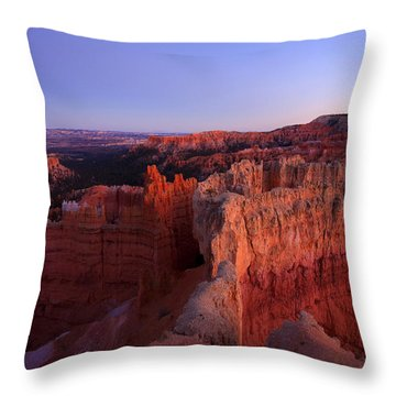 Temple Of The Setting Sun Throw Pillow