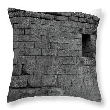 Throw Pillow featuring the photograph Temple Of The Sun, Machu Picchu, Peru by Aidan Moran