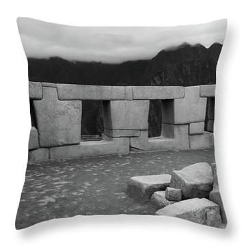 Throw Pillow featuring the photograph Temple Of The Three Windows by Aidan Moran