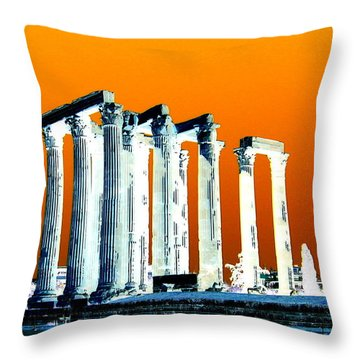 Temple Of Zeus, Athens Throw Pillow