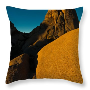 Temple Rock, Joshua Tree, Sunrise Throw Pillow