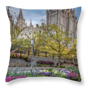 Temple Square Salt Lalke City Utah Throw Pillow