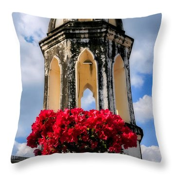 Temple Tower Throw Pillow