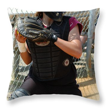 Temple University Bullpen Catcher Throw Pillow