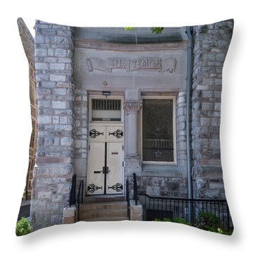 Temple University - The Temple Throw Pillow by Bill Cannon
