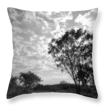 Temporary Clouds Throw Pillow