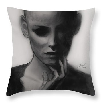 Temporary Secretary Throw Pillow by Jarko Aka Lui Grande