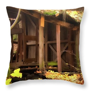 Throw Pillow featuring the photograph Temporary Shelter by Albert Seger