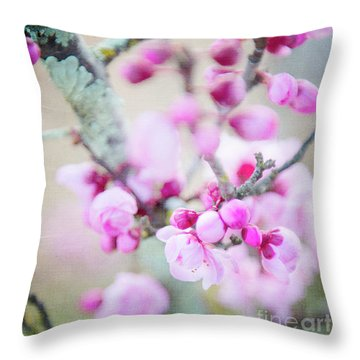 Throw Pillow featuring the photograph Temptation Of Pink by Ivy Ho